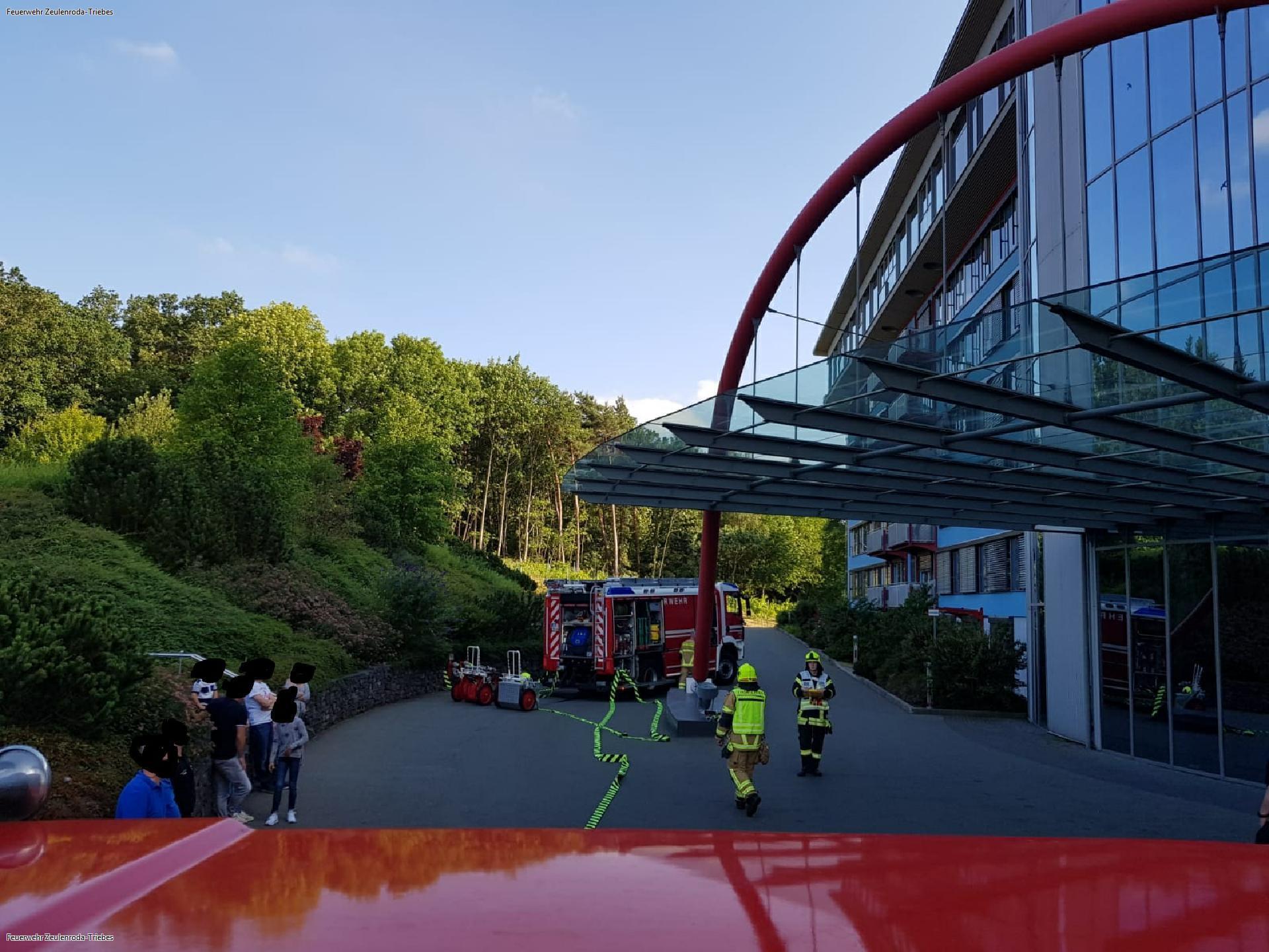 Feuerwehrübung im Bio-Seehotel Zeulenroda