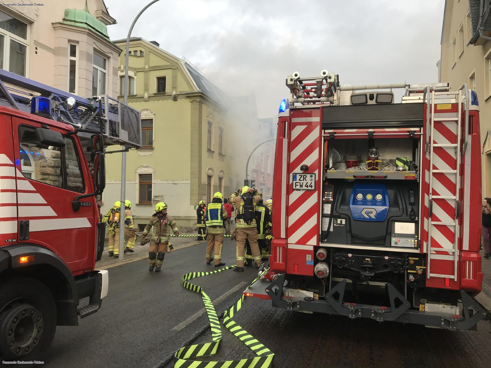 Brand im Zeulenrodaer Wohnhaus