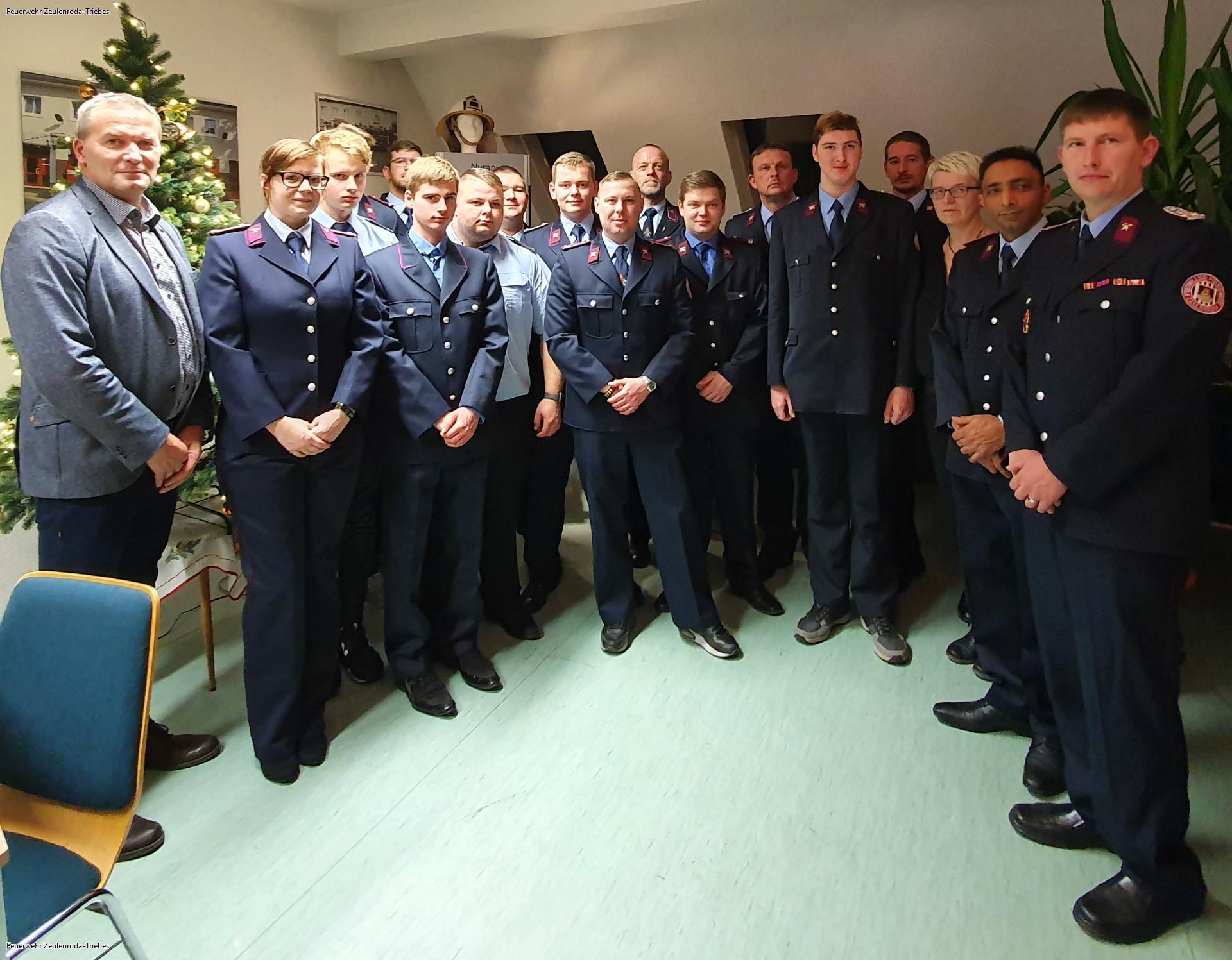 Lob, Anerkennung und Beförderungen zur diesjährigen Jahreshauptversammlung der Stützpunktfeuerwehr Zeulenroda