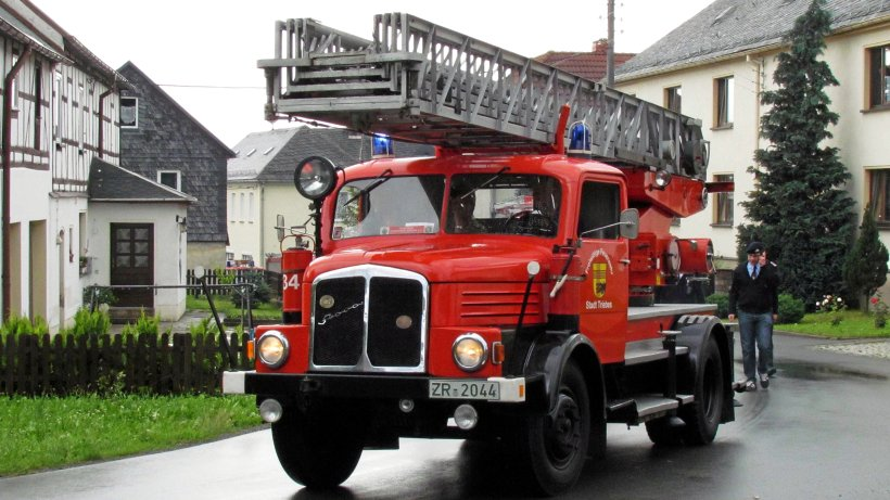 Bei kleinen Feuerwehren sind oft Oldtimer im Einsatz