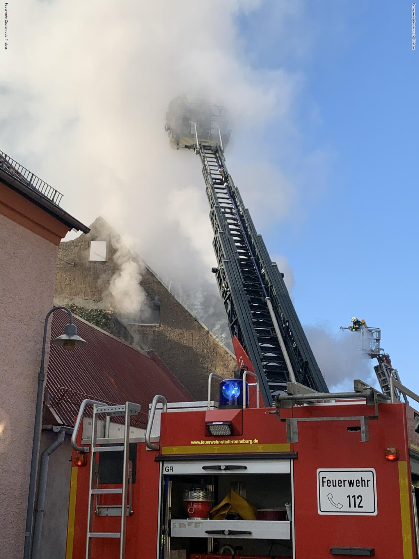 Großbrand in Ronneburg