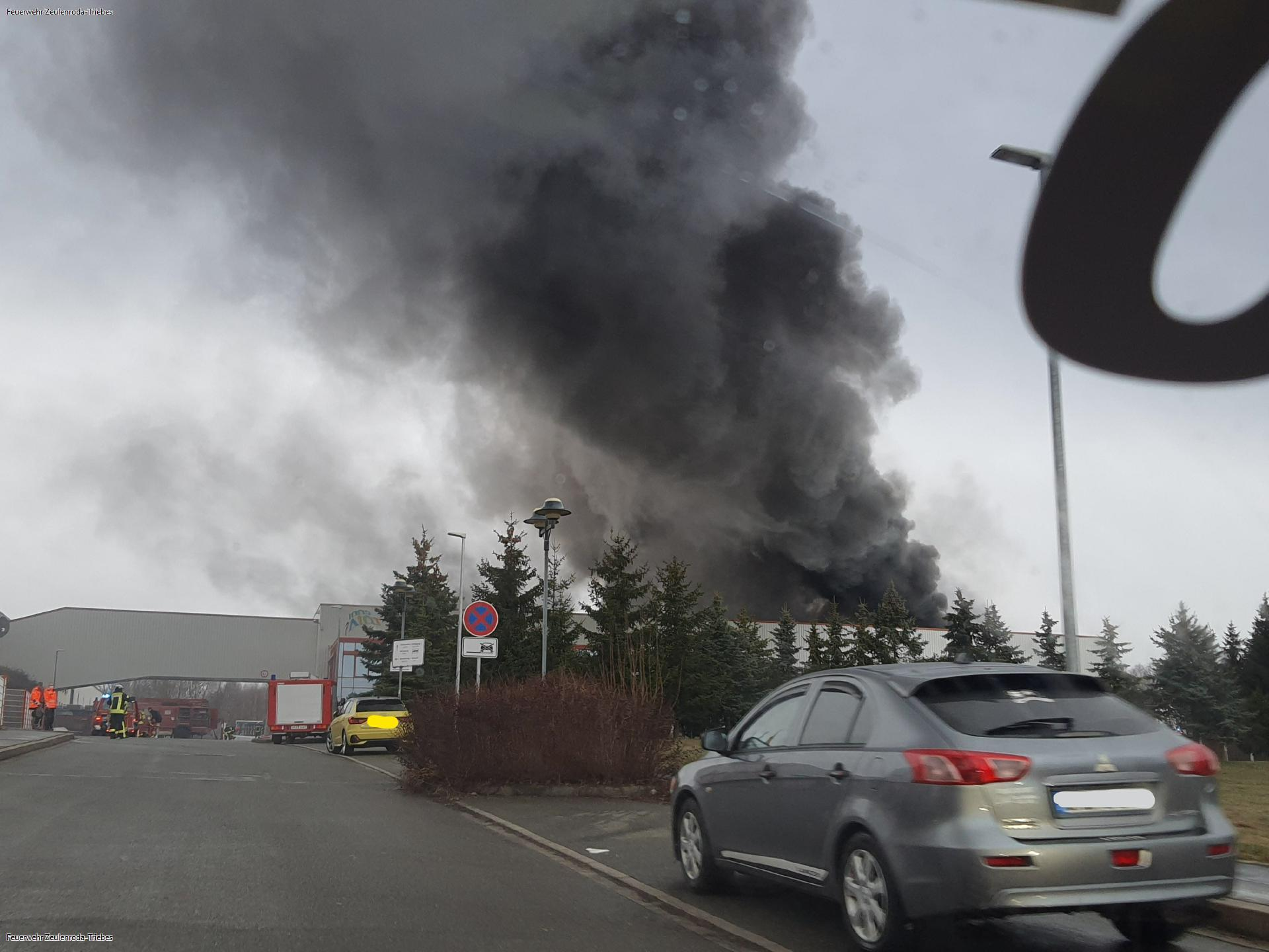 Großbrand bei Wertbau