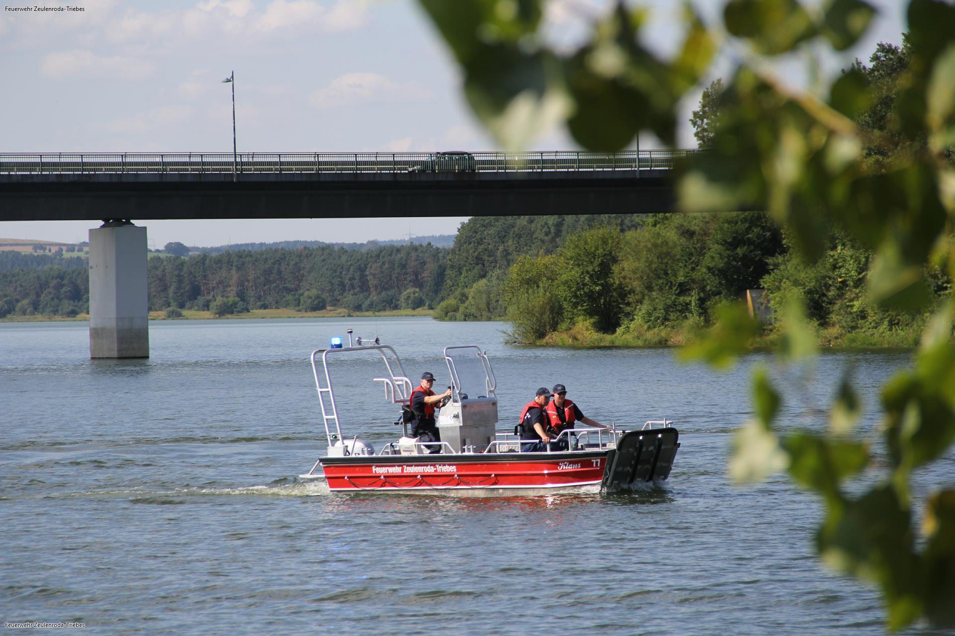 Neues Rettungsboot der Feuerwehr Zeulenroda